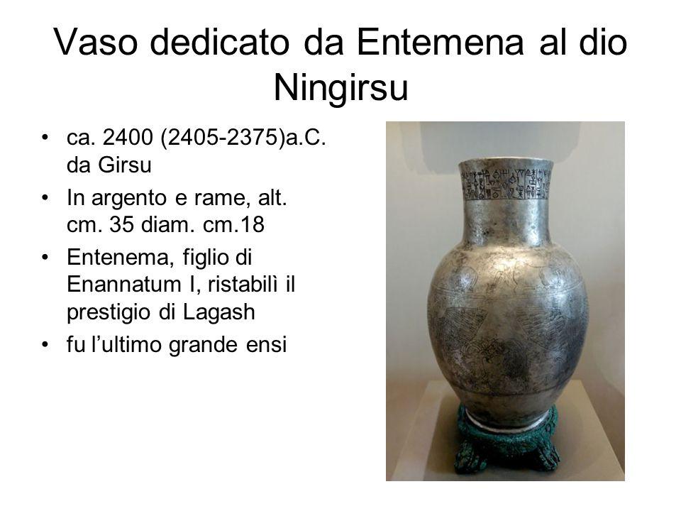 Vaso dedicato da Entemena al dio Ningirsu