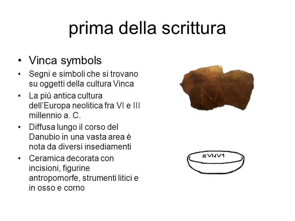 prima della scrittura Vinca symbols