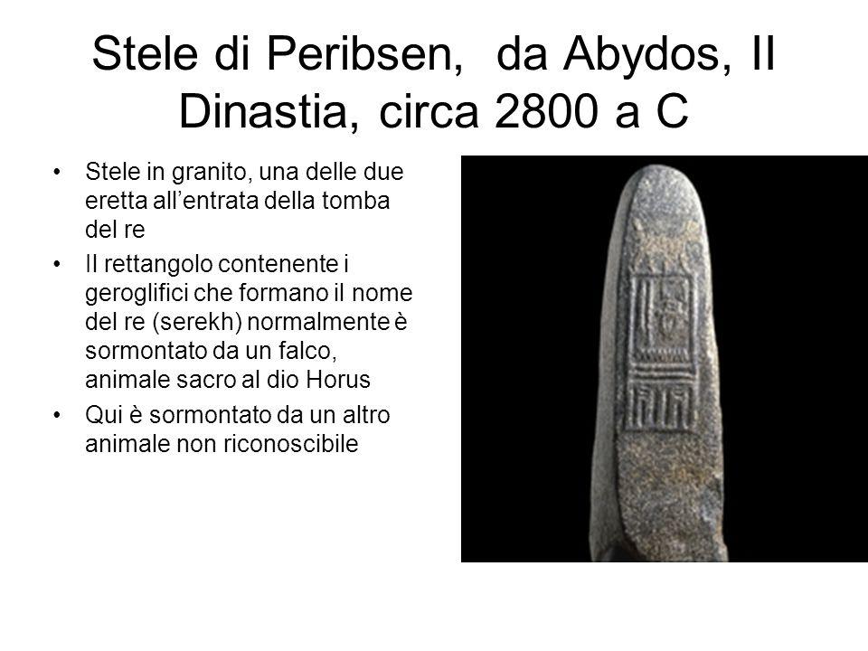 Stele di Peribsen, da Abydos, II Dinastia, circa 2800 a C