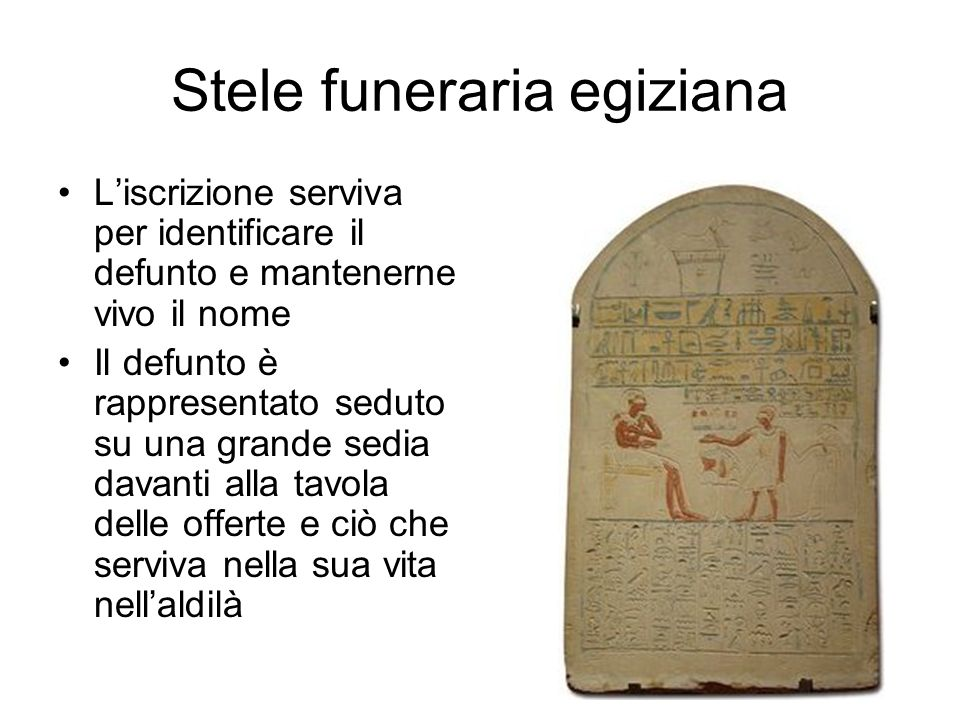 Stele funeraria egiziana