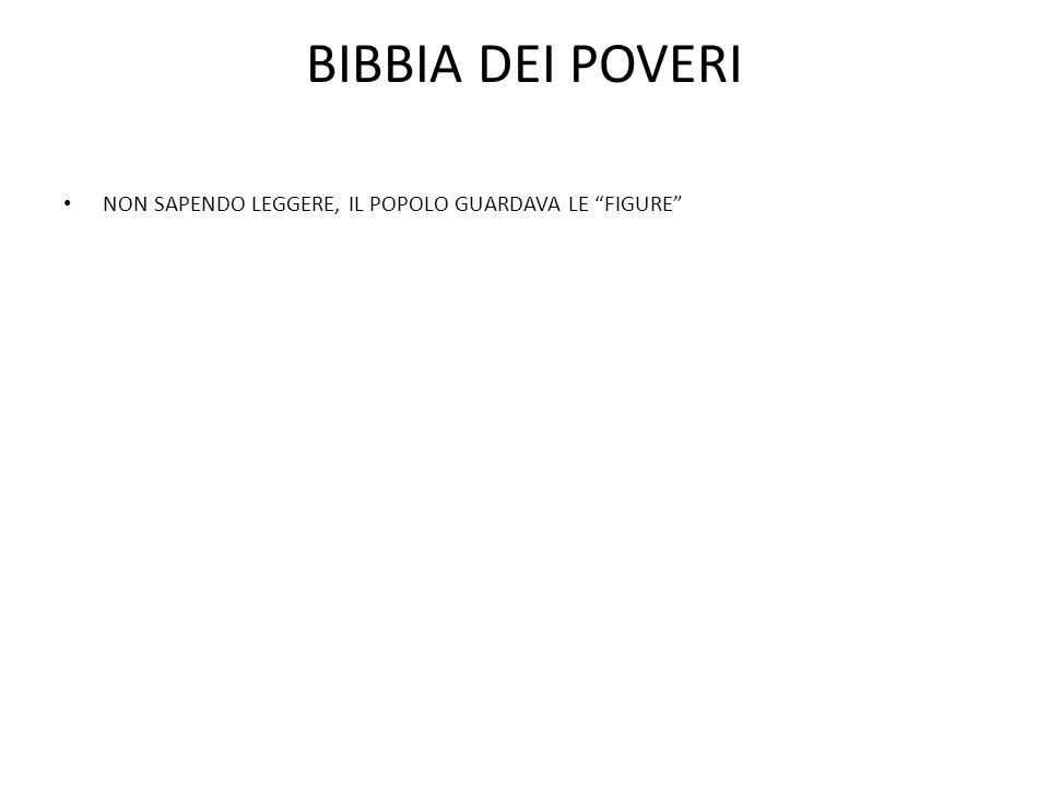 BIBBIA DEI POVERI NON SAPENDO LEGGERE, IL POPOLO GUARDAVA LE FIGURE