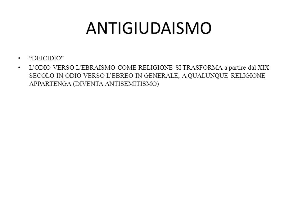 ANTIGIUDAISMO DEICIDIO