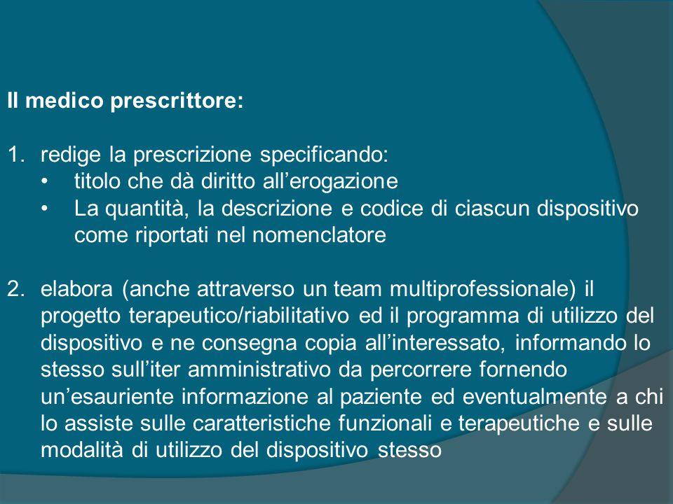 Il medico prescrittore: