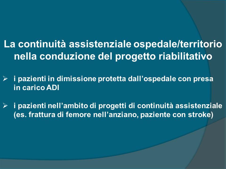 La continuità assistenziale ospedale/territorio nella conduzione del progetto riabilitativo
