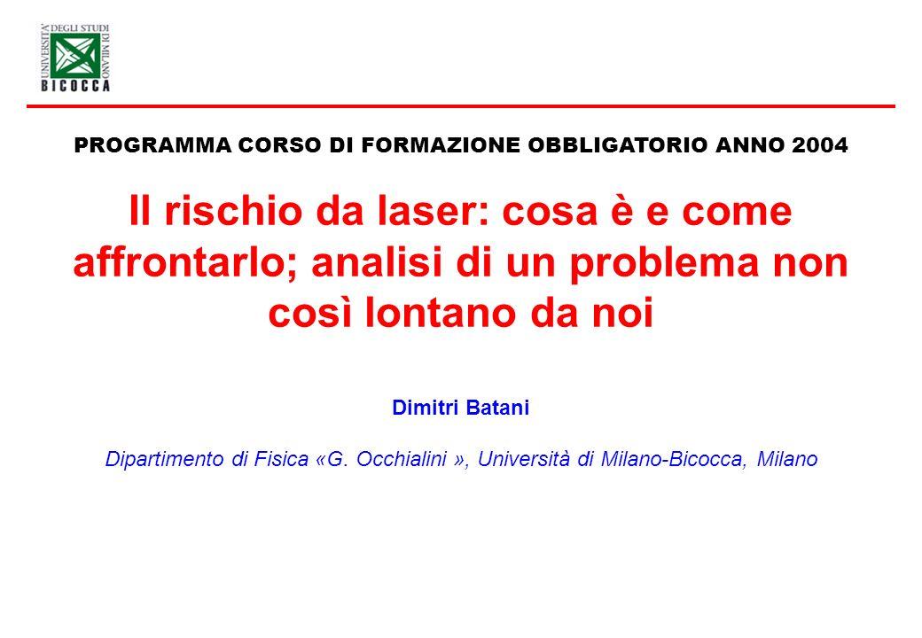 PROGRAMMA CORSO DI FORMAZIONE OBBLIGATORIO ANNO 2004