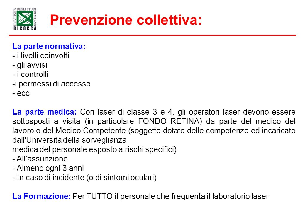 Prevenzione collettiva: