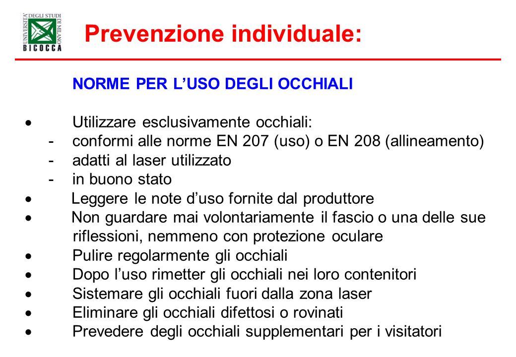 Prevenzione individuale: