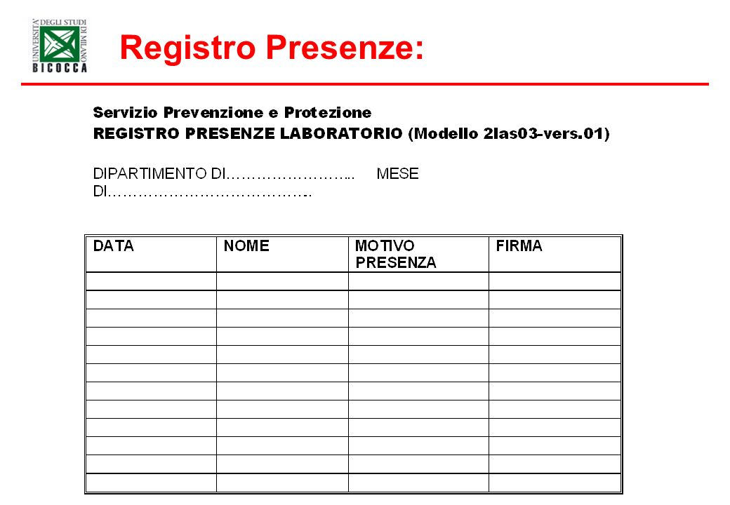Registro Presenze: