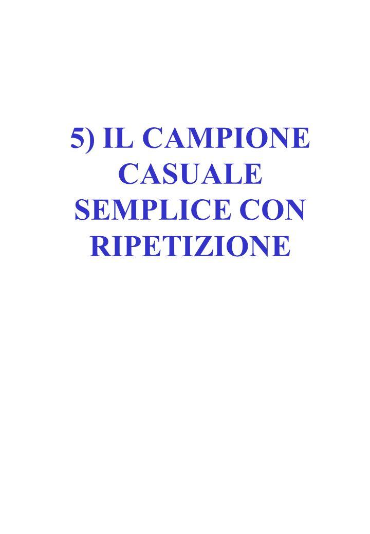5) IL CAMPIONE CASUALE SEMPLICE CON RIPETIZIONE