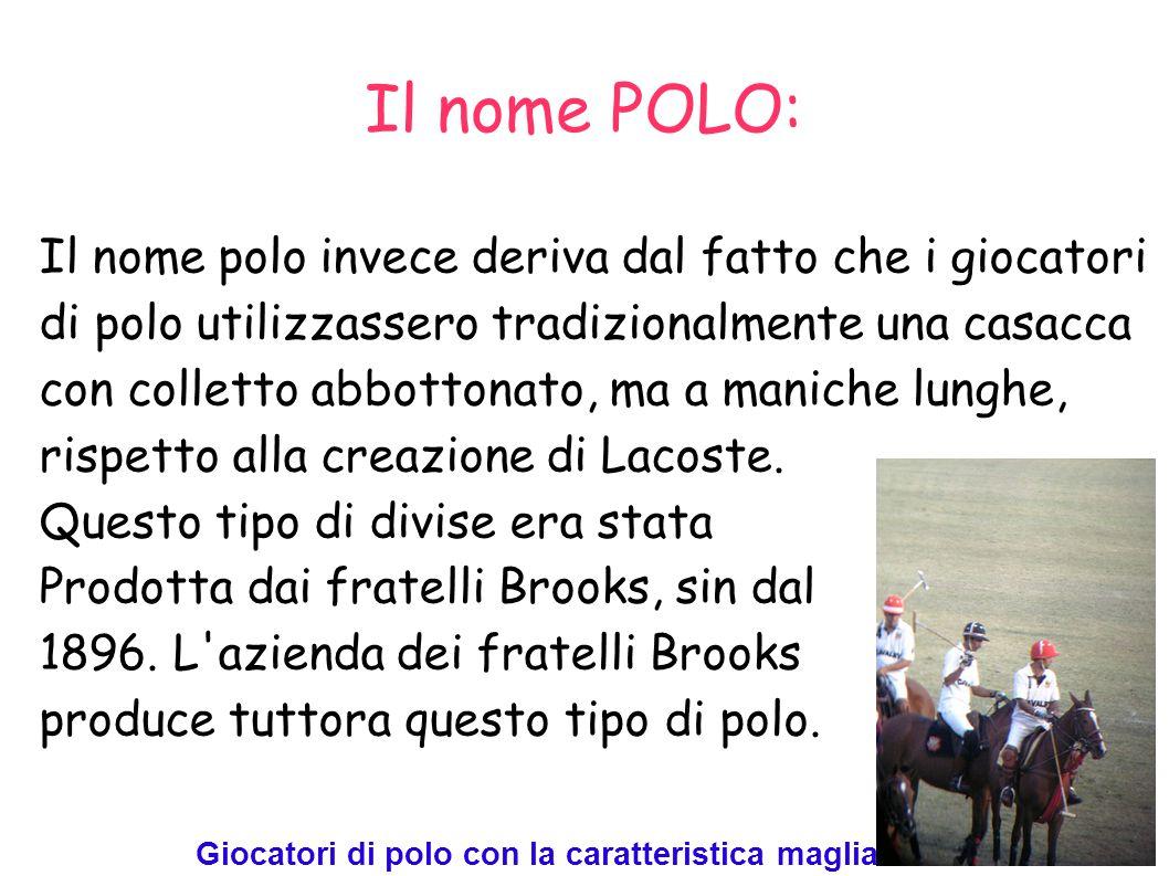 Il nome POLO: