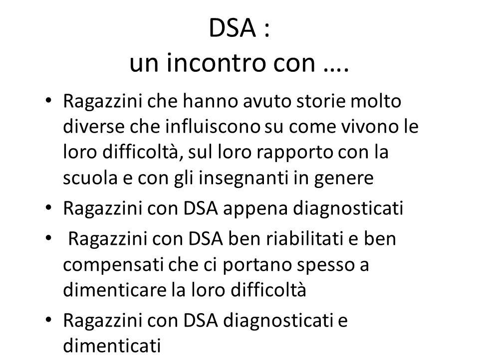 DSA : un incontro con ….