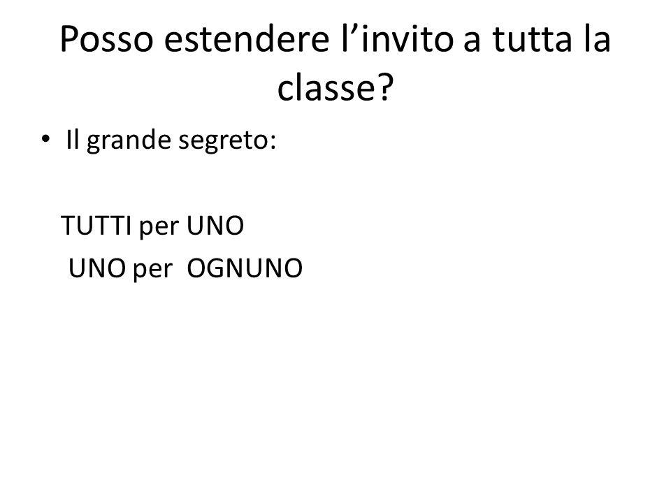 Posso estendere l'invito a tutta la classe