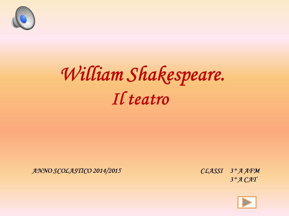 William Shakespeare. Il teatro