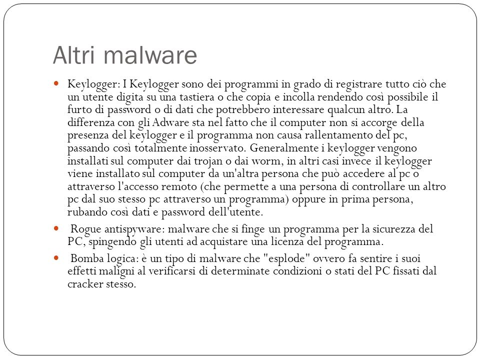 Altri malware