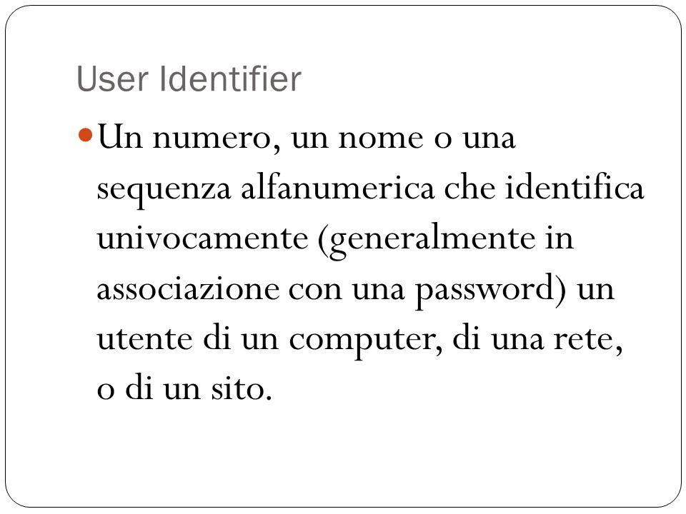 User Identifier