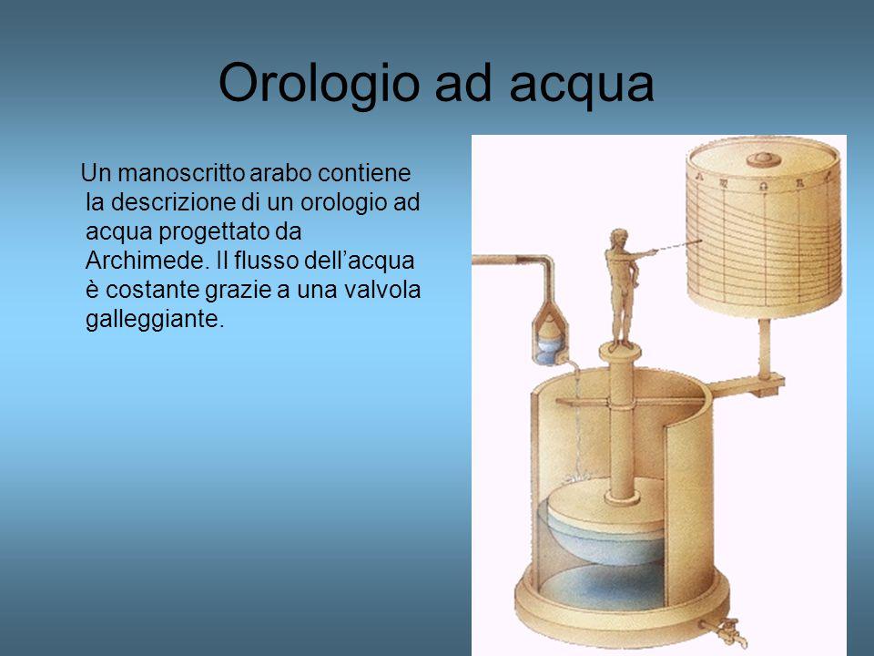 Orologio ad acqua