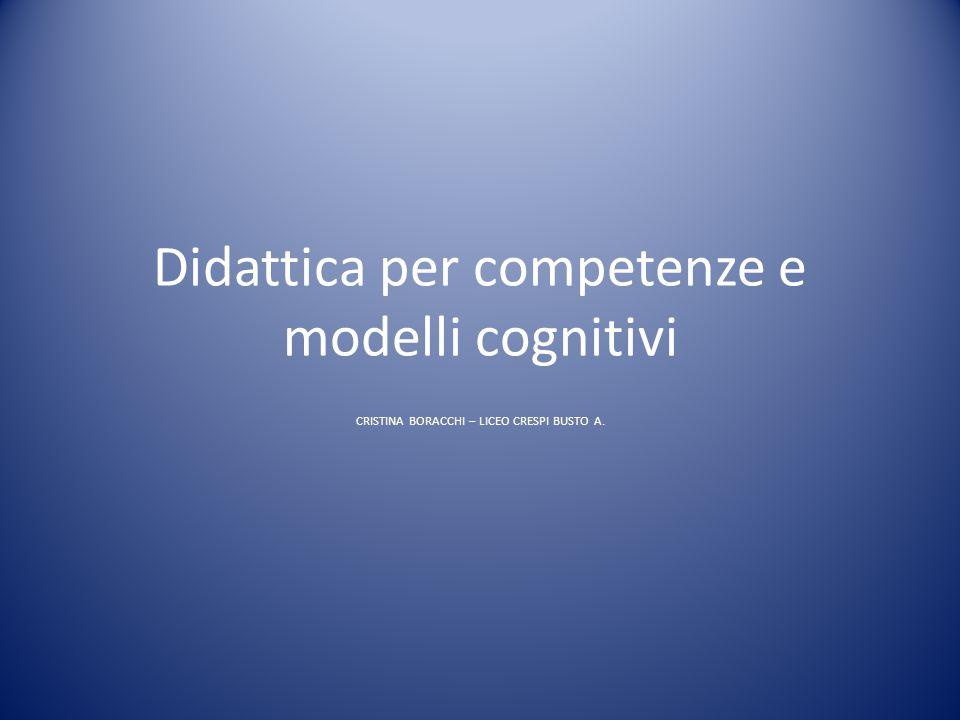Didattica per competenze e modelli cognitivi