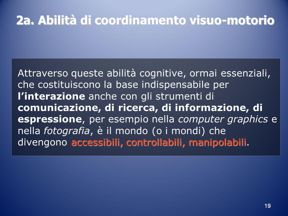 2a. Abilità di coordinamento visuo-motorio