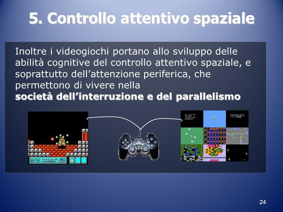 5. Controllo attentivo spaziale