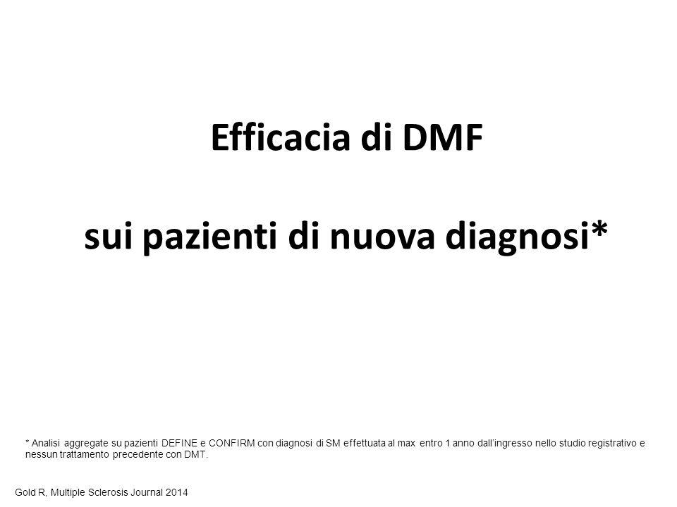 Efficacia di DMF sui pazienti di nuova diagnosi*
