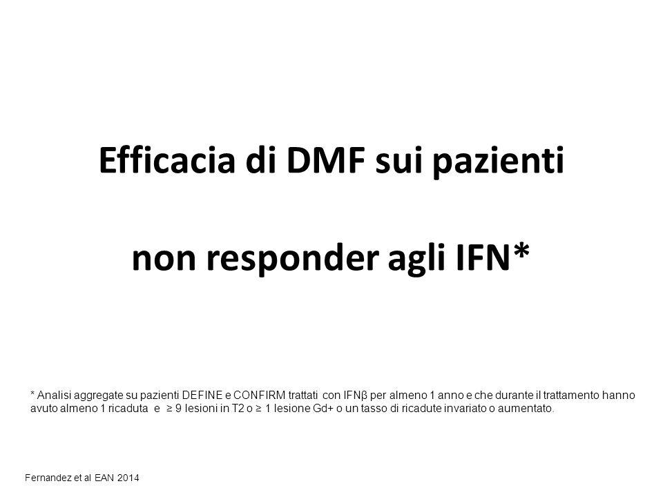 Efficacia di DMF sui pazienti non responder agli IFN*