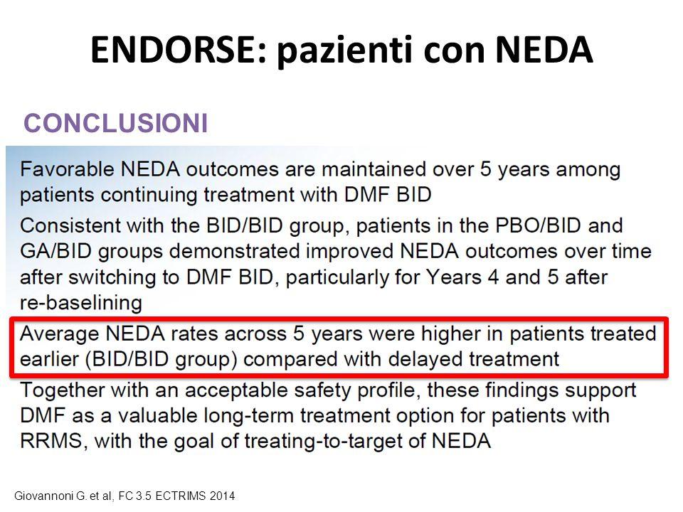 ENDORSE: pazienti con NEDA