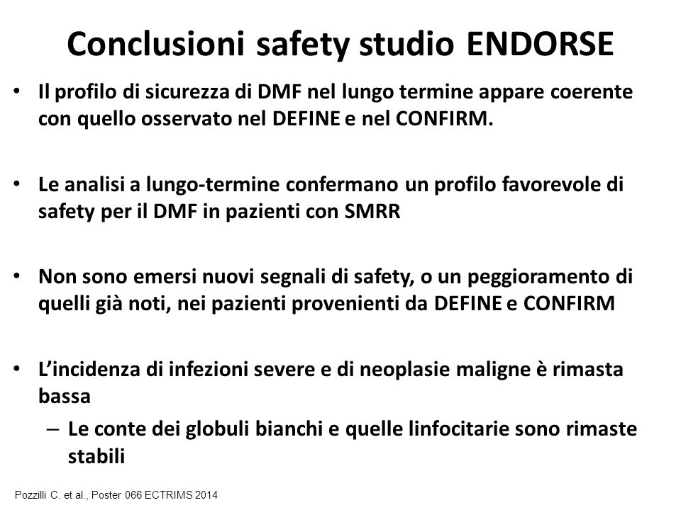 Conclusioni safety studio ENDORSE