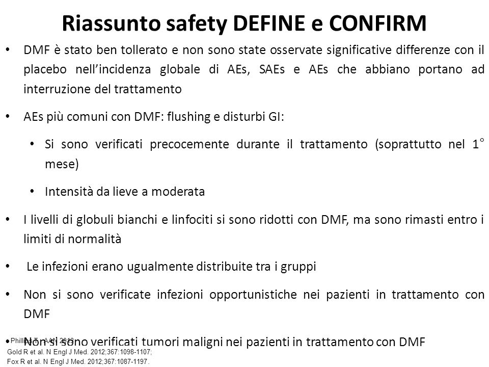 Riassunto safety DEFINE e CONFIRM