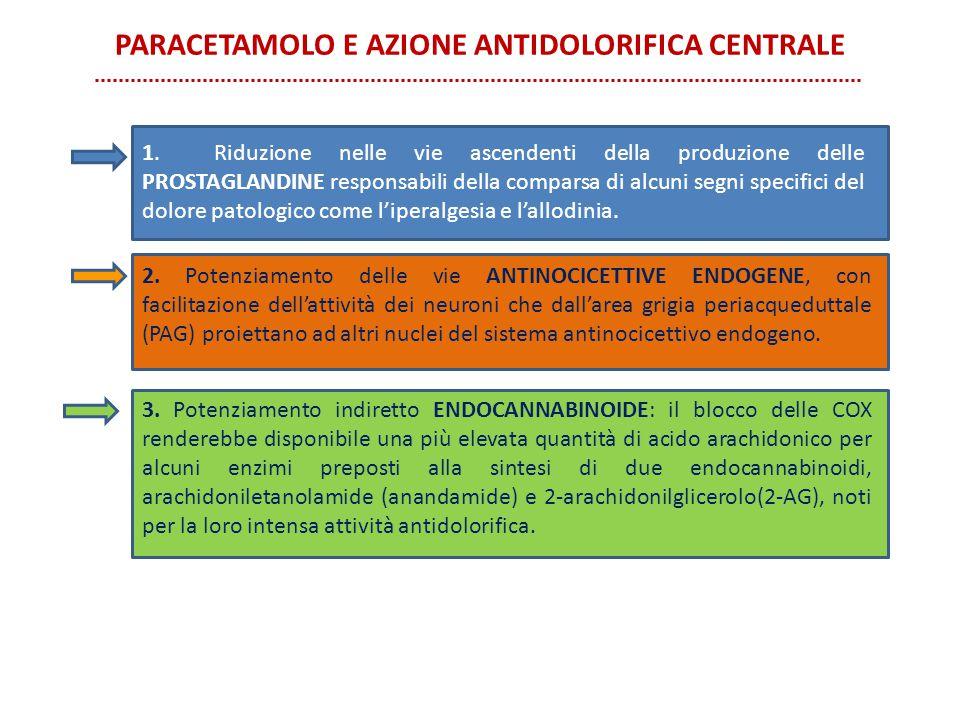 PARACETAMOLO E AZIONE ANTIDOLORIFICA CENTRALE