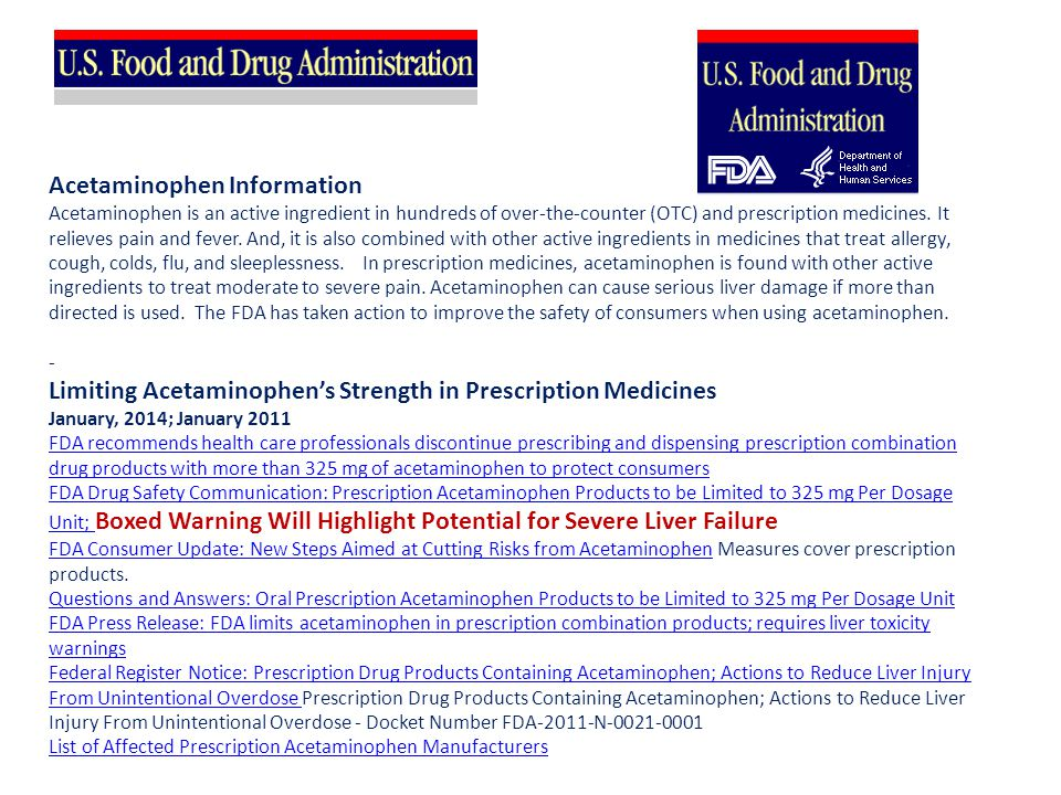 Acetaminophen Information