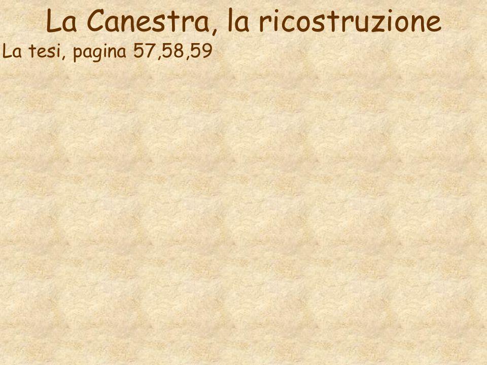 La Canestra, la ricostruzione