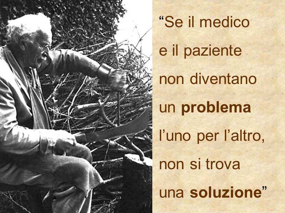 Se il medico e il paziente. non diventano. un problema.