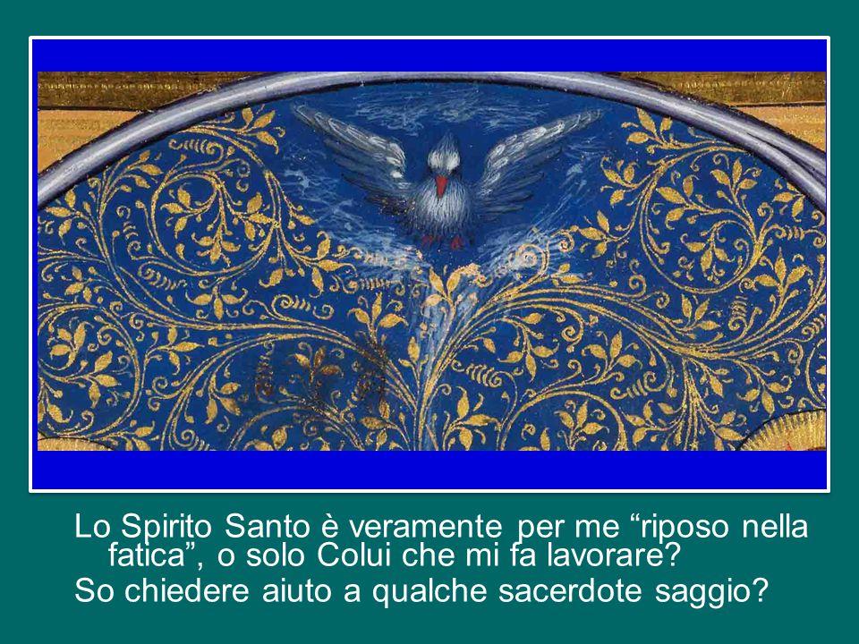 Lo Spirito Santo è veramente per me riposo nella fatica , o solo Colui che mi fa lavorare.