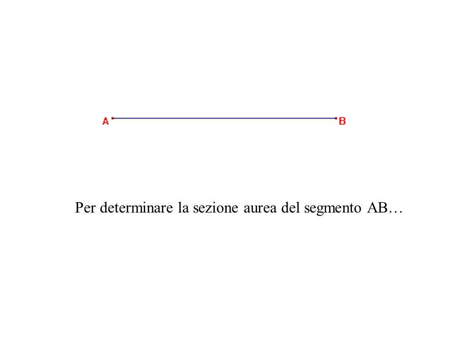 Per determinare la sezione aurea del segmento AB…