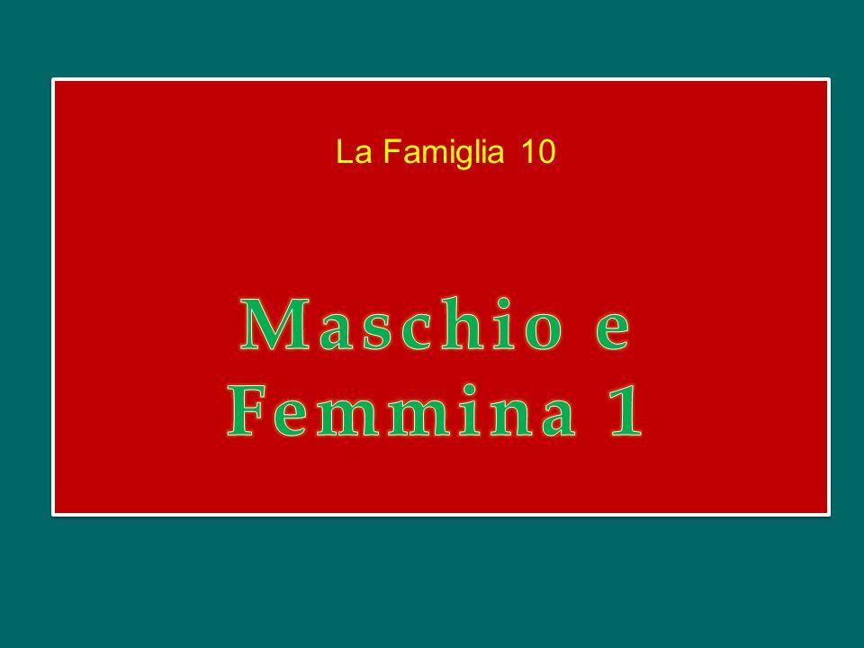 La Famiglia 10 Maschio e Femmina 1