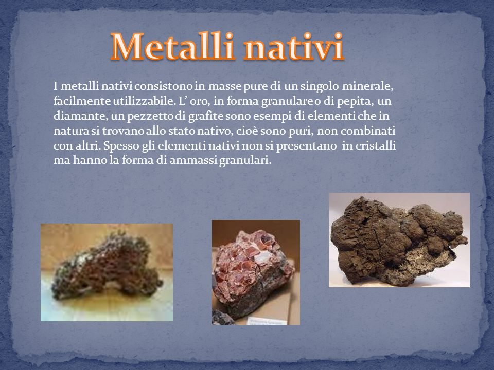 Metalli nativi
