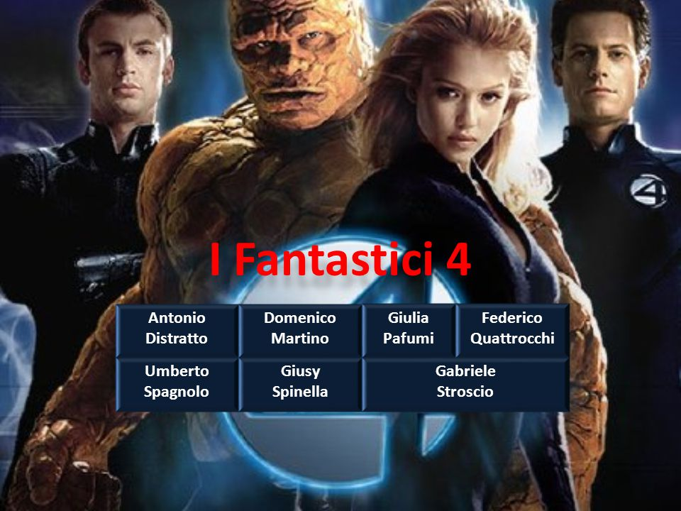 I Fantastici 4 Antonio Distratto Domenico Martino Giulia Pafumi