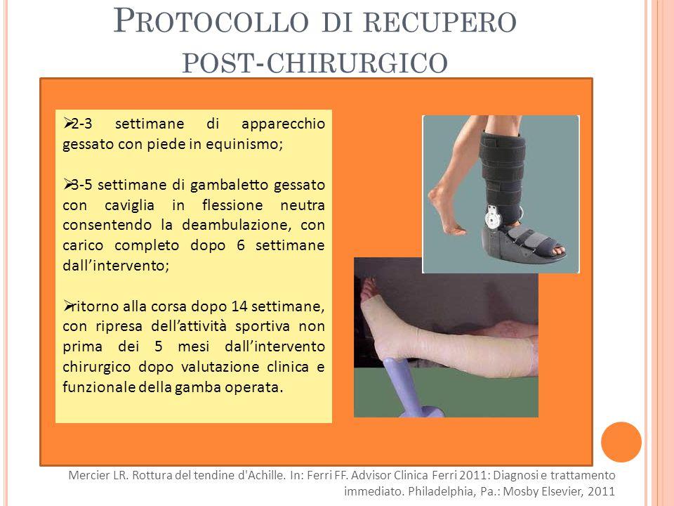 Protocollo di recupero post-chirurgico