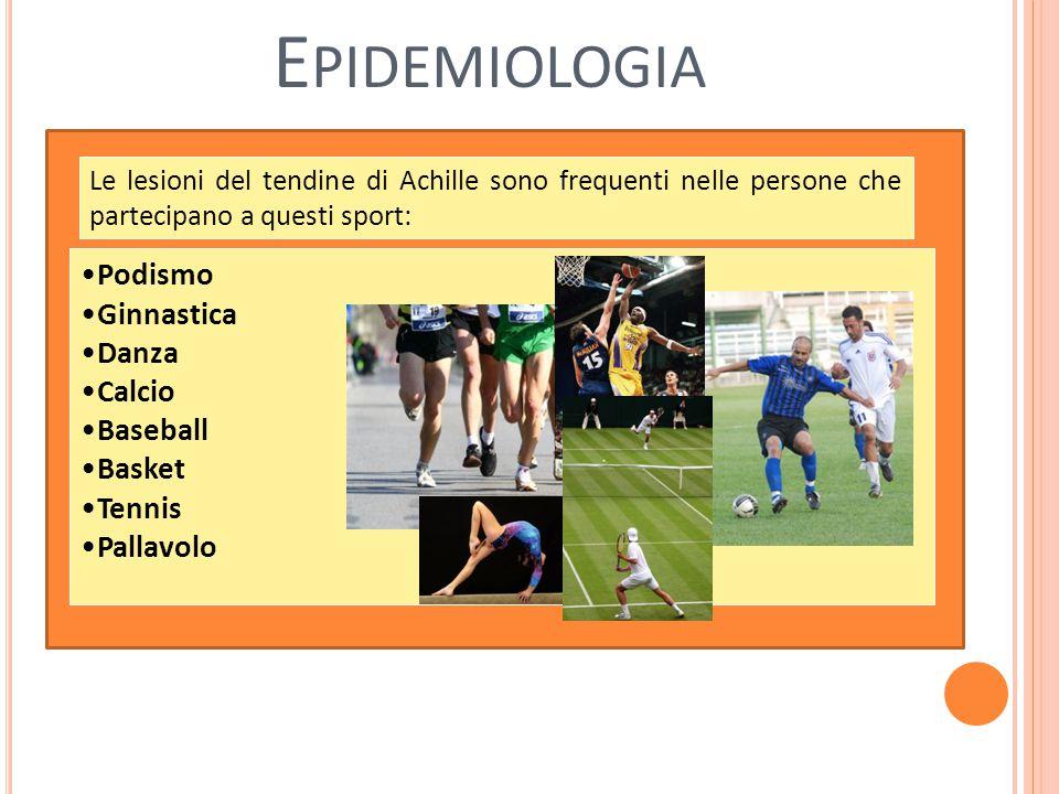 Epidemiologia Podismo Ginnastica Danza Calcio Baseball Basket Tennis