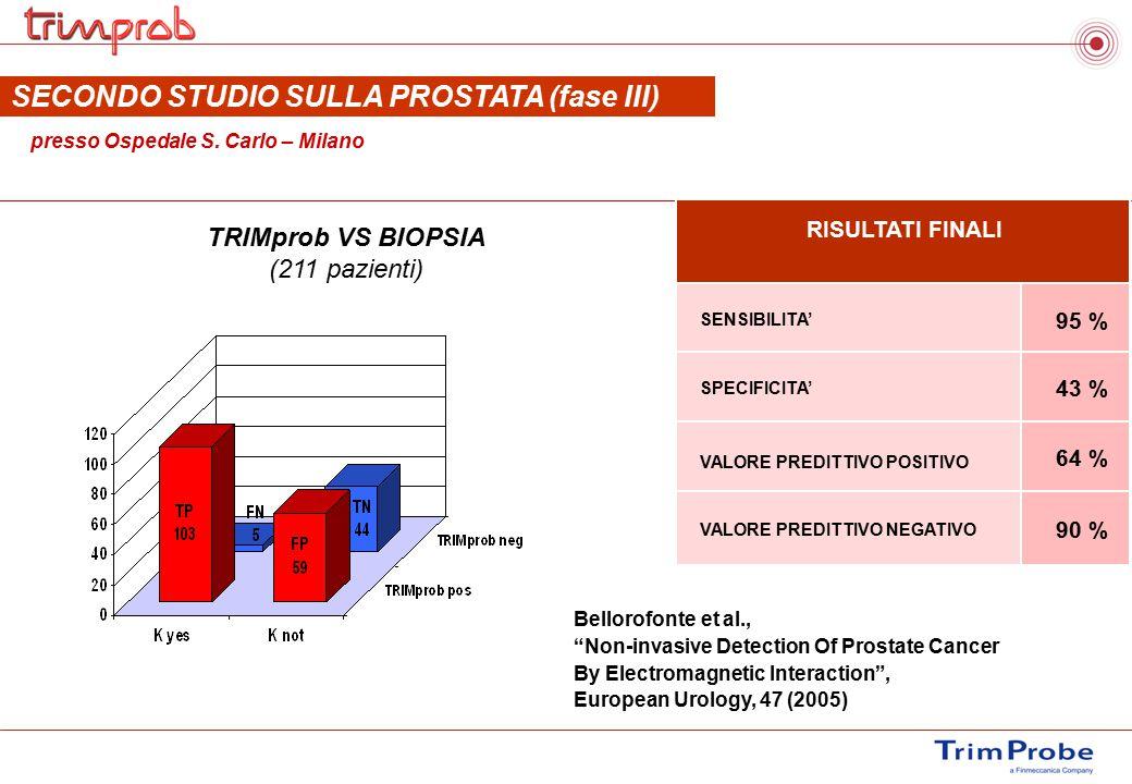 SECONDO STUDIO SULLA PROSTATA (fase III)