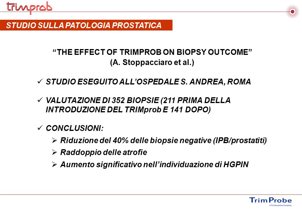 THE EFFECT OF TRIMPROB ON BIOPSY OUTCOME