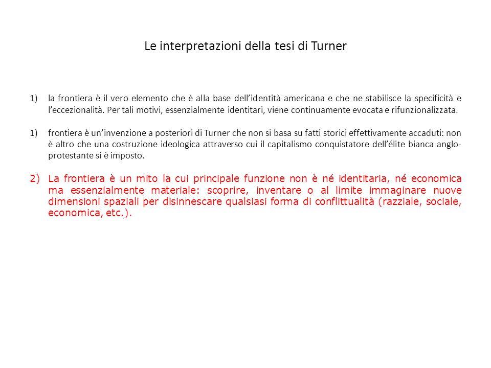 Le interpretazioni della tesi di Turner