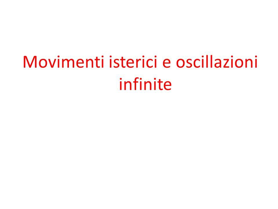 Movimenti isterici e oscillazioni infinite