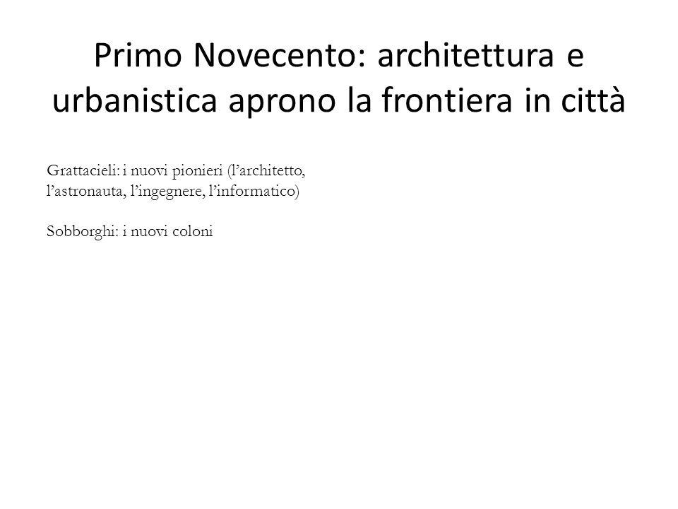 Primo Novecento: architettura e urbanistica aprono la frontiera in città