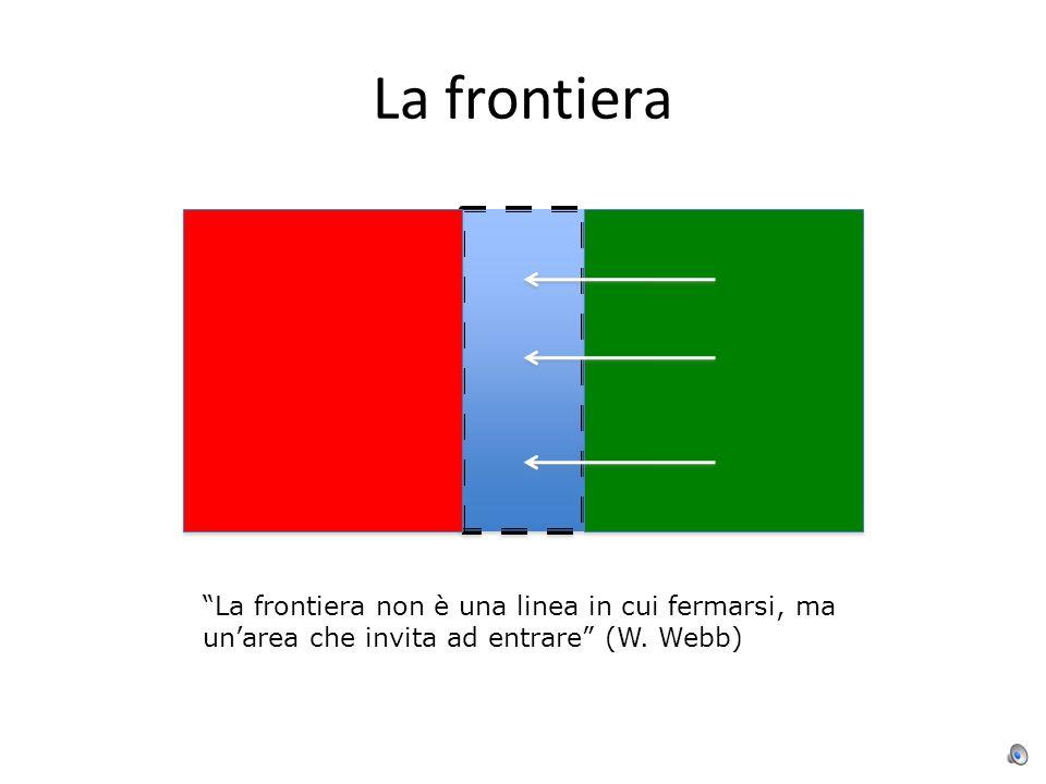La frontiera La frontiera non è una linea in cui fermarsi, ma un'area che invita ad entrare (W.