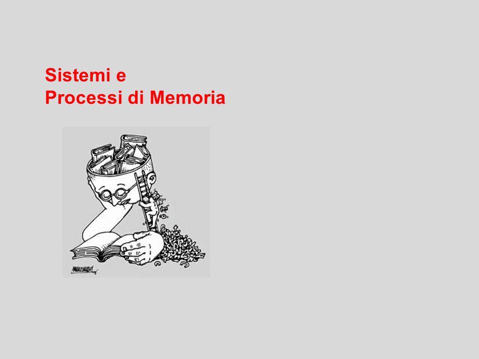 Sistemi e Processi di Memoria