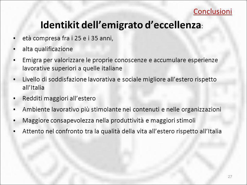 Identikit dell'emigrato d'eccellenza: