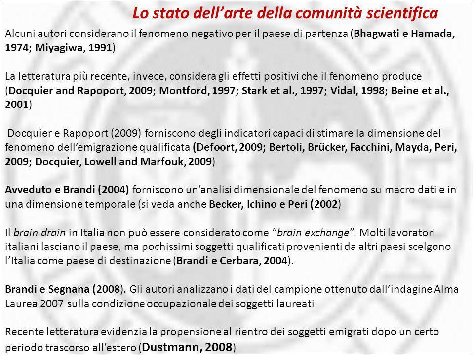Lo stato dell'arte della comunità scientifica