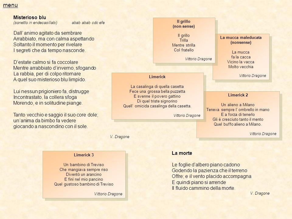menu Misterioso blu Dall' animo agitato da sembrare