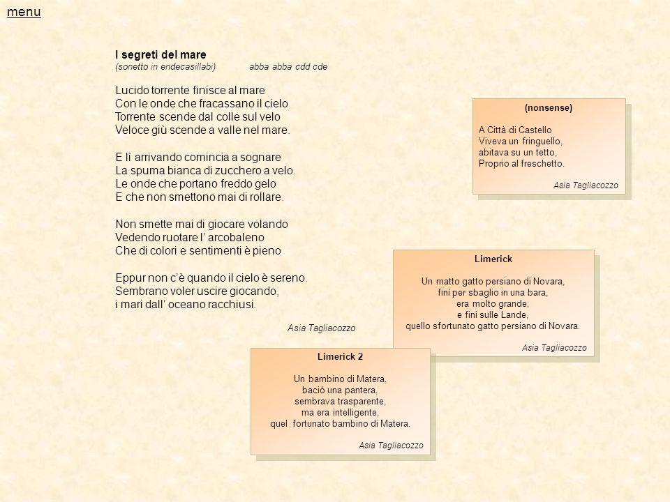 menu I segreti del mare Lucido torrente finisce al mare